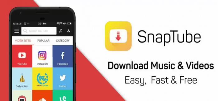 Snaptube - Free Android Media Download Application - Social